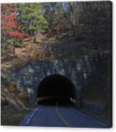 Fall At Bluff Mountain Tunnel Canvas Print