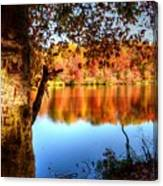 Fall At Lake Canvas Print