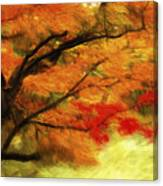 Fall At The Temple Canvas Print