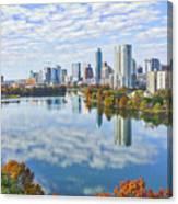 Fall Austin Skyline Canvas Print