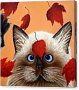 Fall Cat Canvas Print