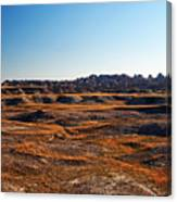 Fall Color In The Badlands Canvas Print