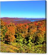 Fall Color On The Fulton Chain Of Lakes Canvas Print