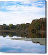 Fall Color On The Pond Canvas Print