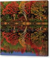 Fall Color Reflected In Thornton Lake Michigan Canvas Print