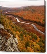Fall Colors - Lake Of The Clouds Canvas Print