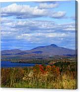 Fall Colors At Lake Carmi Canvas Print
