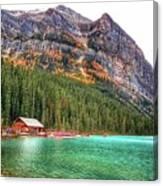 Fall Colors At Lake Louise Alberta  Canvas Print