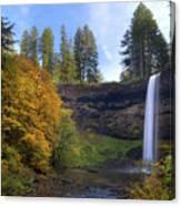 Fall Colors At South Falls Canvas Print