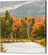 Fall Colors By The Lake Canvas Print