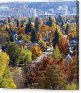 Fall Colors In Spokane From The Post Street Hill Canvas Print