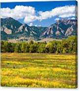 Fall Colors Of Boulder Colorado Canvas Print