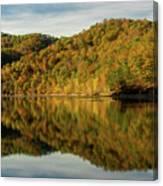 Fall Colors On Lake Reflection Canvas Print