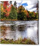 Fall Colors On The Moose River Canvas Print