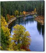 Fall Colors On The River Canvas Print