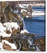 Fall Creek Falls In Winter Canvas Print