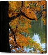 Fall Day At The Lake Canvas Print