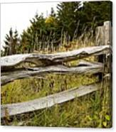 Fall Fencing Canvas Print