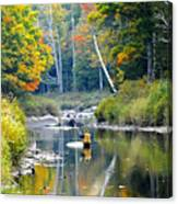Fall Fishing Canvas Print