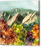 Fall Flatirons Canvas Print