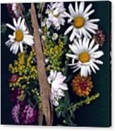Fall Floral Collage Canvas Print