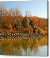 Fall Fog Reflections Canvas Print
