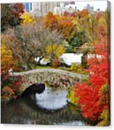 Fall Foliage In Central Park Canvas Print