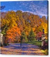 Fall Foliage Gated Estate Canvas Print