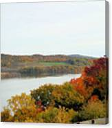 Fall Foliage In Hudson River 5 Canvas Print