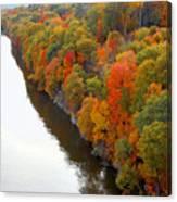 Fall Foliage In Hudson River 6 Canvas Print