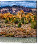 Fall Foliage Near Ghost Ranch Canvas Print