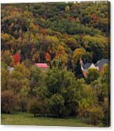 Fall In A Small Town Canvas Print