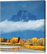 Fall At The Oxbow Canvas Print