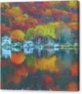 Fall Lake Canvas Print