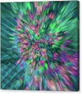 Fall Leaf Zoom Abstract Canvas Print