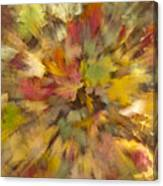Fall Leaves Abstract Canvas Print