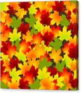 Fall Leaves Quilt Canvas Print