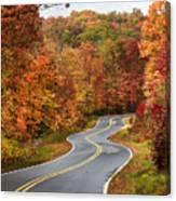 Fall Mountain Road Canvas Print