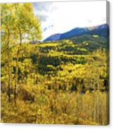 Fall Mountain Scenery Canvas Print