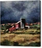 Fall Night At The Farm Canvas Print
