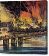 Fall Of Richmond, 1865 Canvas Print