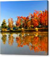 Fall On Lake Canvas Print