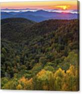 Fall On The Blue Ridge Parkway. Canvas Print