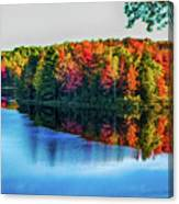 Fall On The Lake In Wisconsin Canvas Print