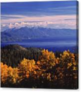 Fall Over East Shore Canvas Print
