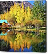 Fall Reflections At The Double Eagle Canvas Print