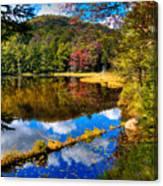 Fall Reflections On Cary Lake Canvas Print