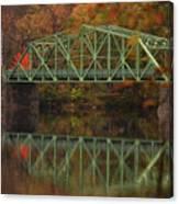 Fall Rocks Village Bridge Canvas Print