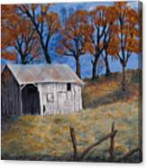 Fall Shed Canvas Print