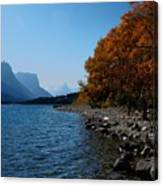 Fall Shoreline. Canvas Print